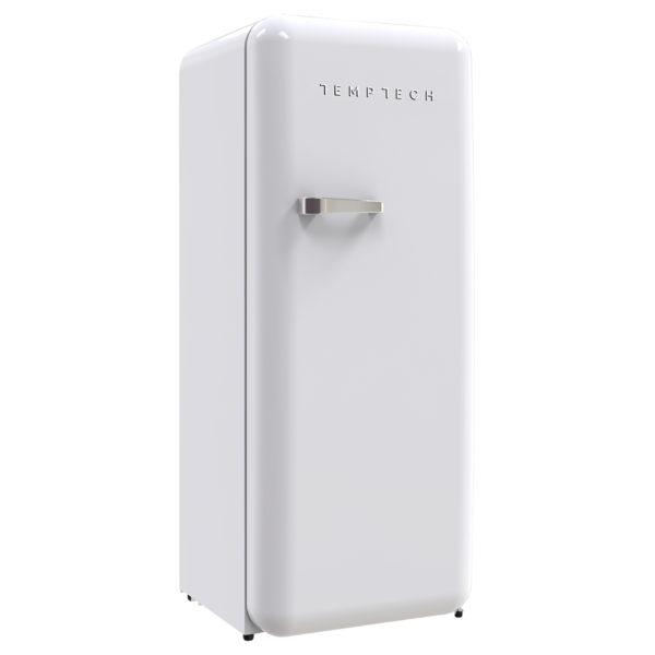Kombiskap med kjøl og frys Stilig retrodesign Justerbare hyller, flaskeholder og grønnsaksskuff Energiklasse A+