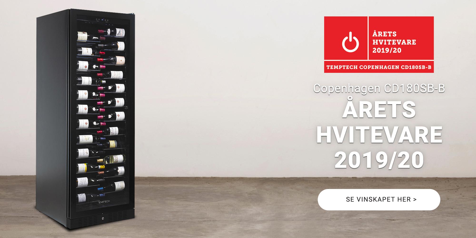 Årets Hvitevare 2019/2020 Temptech vinskap